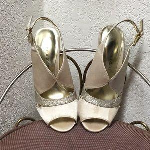 Gold wedding high heels